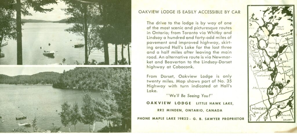 pamphlet with map and lake views