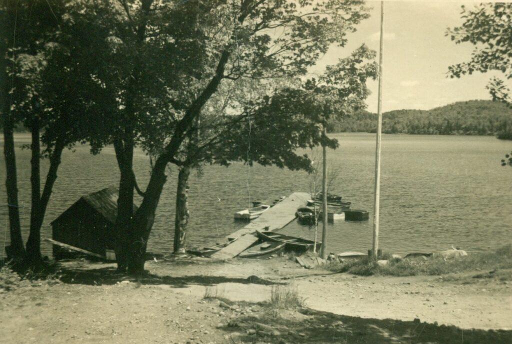 dock seen from shore