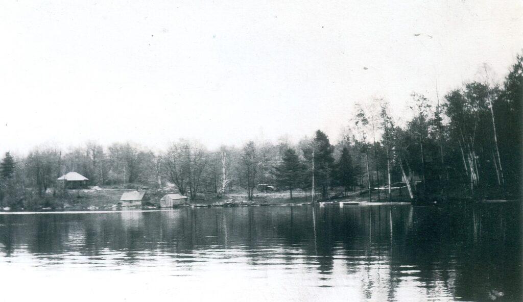 little hawk landing as seen from the lake