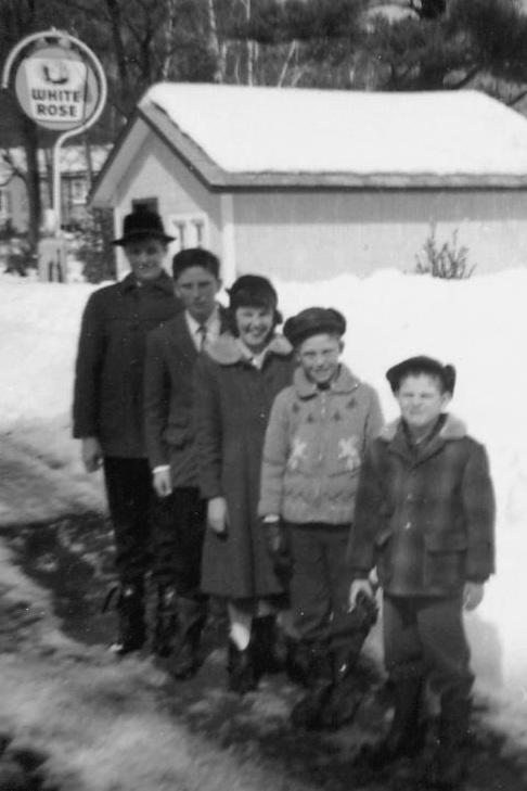 Hewitt children in 1962