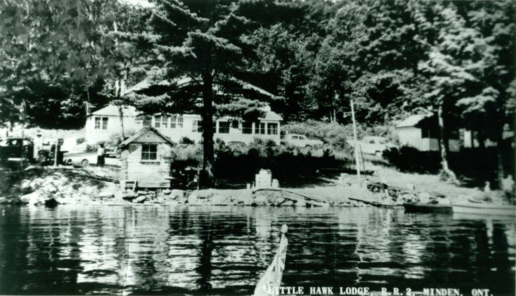 lodge seen from lake