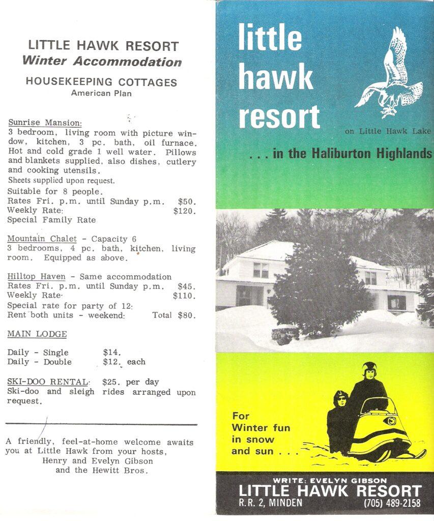 pamphlet advertising winter lodging