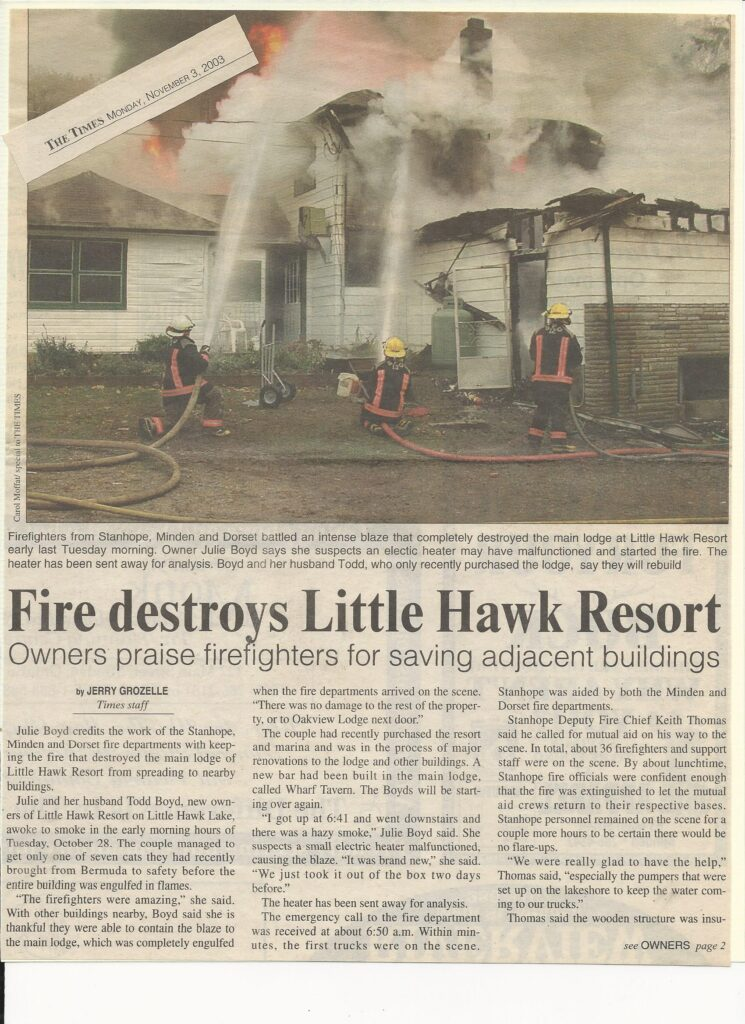 newspaper article about fire