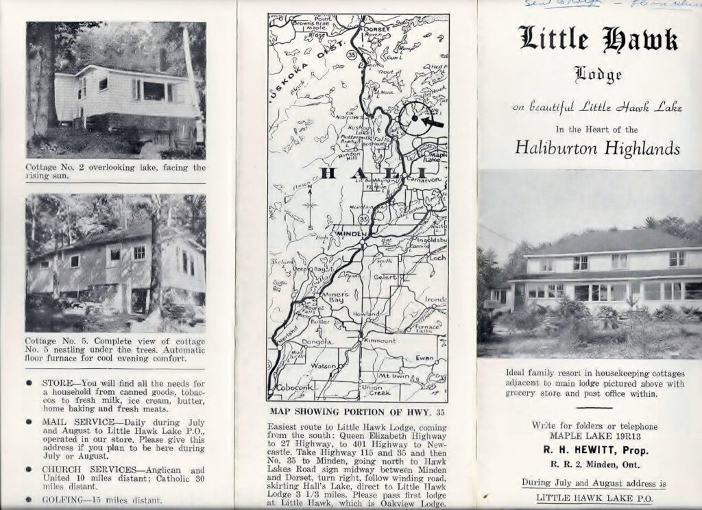 scanned brochure for little hawk lodge