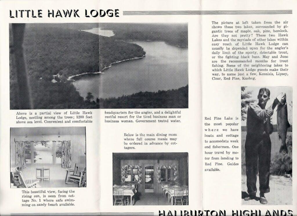 brochure for little hawk lodge