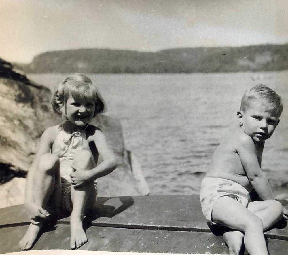 children on a dock